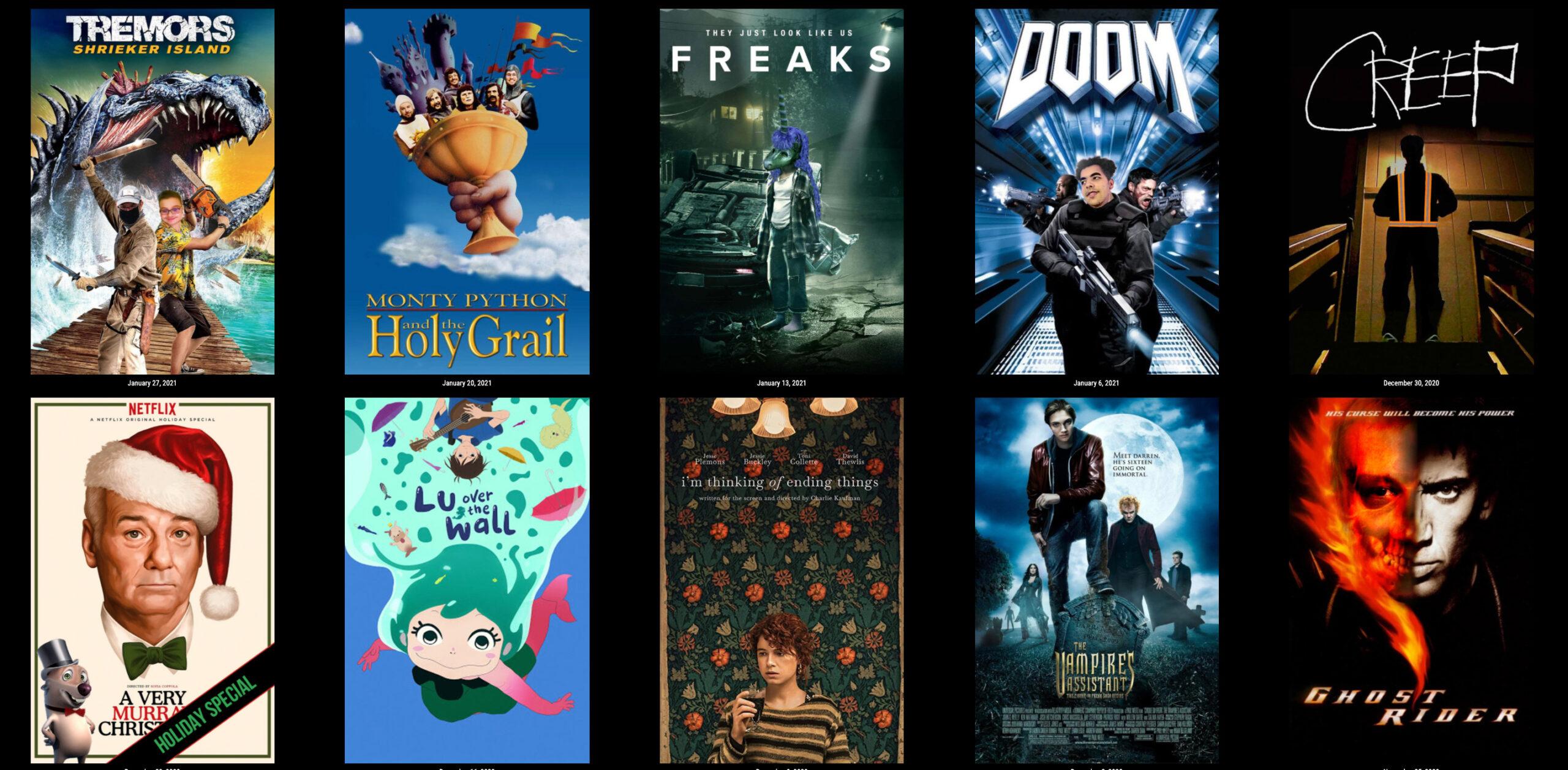 Movie night posters